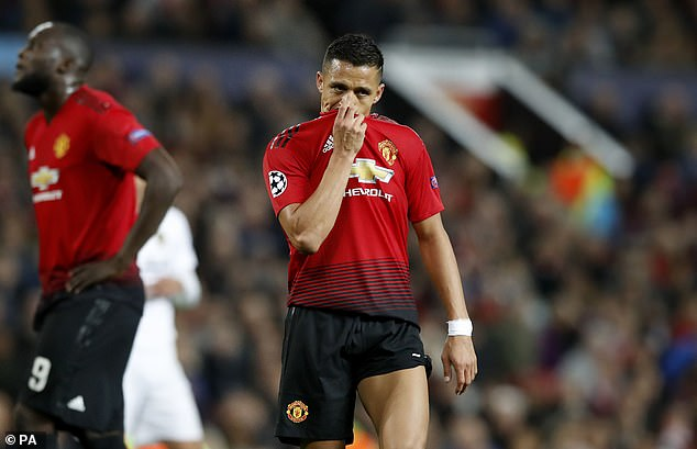 Alexis Sanchez en touche de Manchester United
