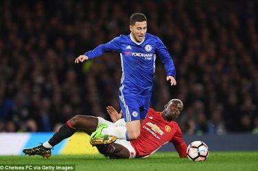 Eden Hazard blesse contre man united 2018