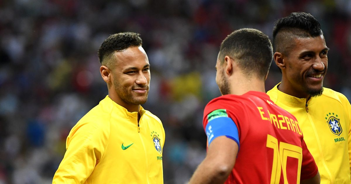 Eden Hazard et Neymar 2018